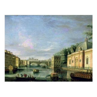 Carte Postale Vue de la rivière de Fontanka à St Petersburg