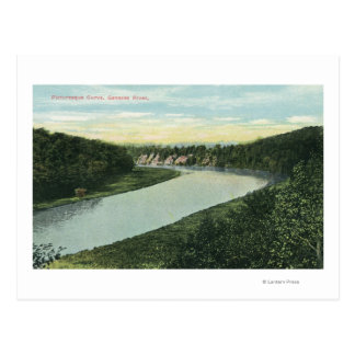 Carte Postale Vue de la rivière de Genesee