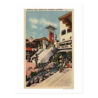 Carte Postale Vue de l'auberge de mission et de la cour