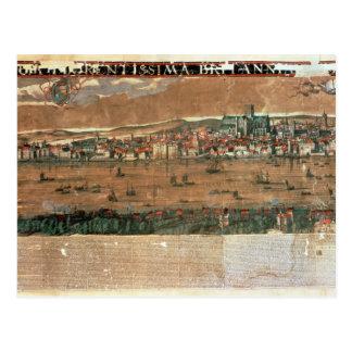 Carte Postale Vue de Londres avec le cygne