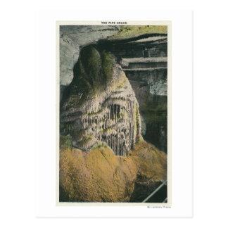 Carte Postale Vue de l'organe de tuyau