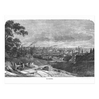 Carte Postale Vue de Manchester, gravée par T.Gustyne