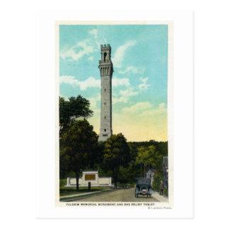 Carte Postale Vue de mémorial de comprimé et de pèlerin de