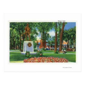 Carte Postale Vue de monument au parc de Wisner