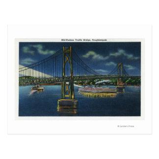 Carte Postale Vue de nuit de pont du trafic du Mi-Hudson