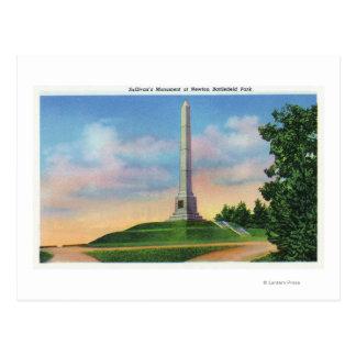 Carte Postale Vue de parc de champ de bataille de Newton