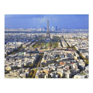 Carte Postale Vue de Paris avec la défense de Tour Eiffel et de