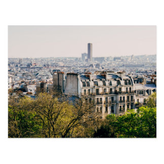 Carte Postale Vue de Paris de colline de Montmartre