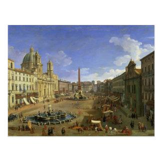 Carte Postale Vue de Piazza Navona, Rome