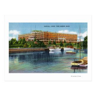 Carte Postale Vue de port de York de la Chambre de Marshall