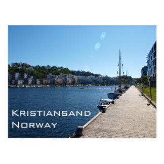 Carte Postale Vue de rive dans Kristiansand, Norvège