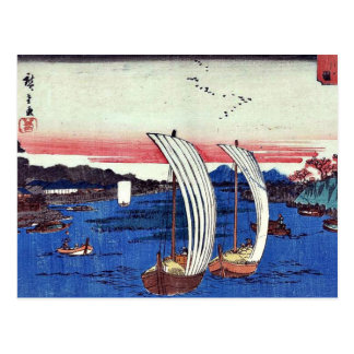 Carte Postale Vue de rivière de Sumida par Ando, Hiroshige
