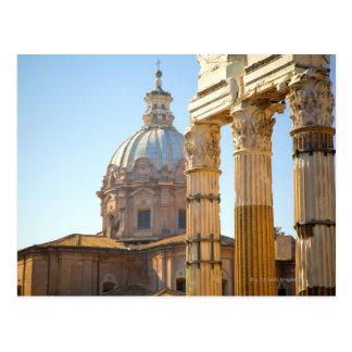 Carte Postale Vue de Santi Luca e Martina dans le forum romain