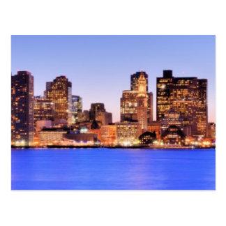 Carte Postale Vue de secteur financier de Boston du centre