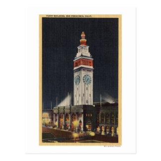 Carte Postale Vue de soirée du bâtiment de ferry