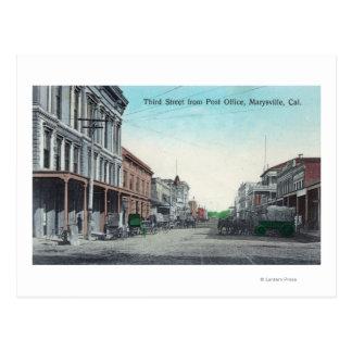 Carte Postale Vue de troisième rue du bureau de poste