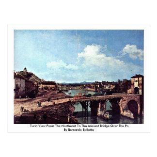 Carte Postale Vue de Turin du nord-est