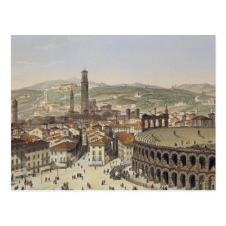 Carte Postale Vue de Vérone, gravée par L. Cherbuin (en de