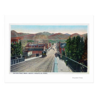 Carte Postale Vue de viaduc de StreetPocatello central,
