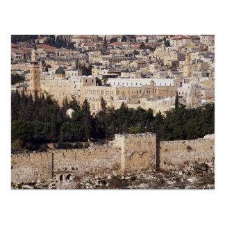 Carte Postale Vue de vieille ville du mont des Oliviers, Jerusal