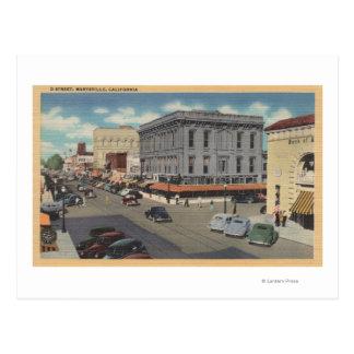 Carte Postale Vue de ville de Marysville, la Californie de rue