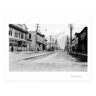 Carte Postale Vue de ville de Skagway, photographie de l'Alaska