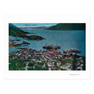 Carte Postale Vue de ville de Wrangell, AlaskaWrangell, AK