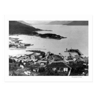 Carte Postale Vue de ville de Wrangell, photographie de l'Alaska