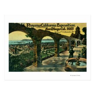 Carte Postale Vue de ville d'une mission, expo de Panama-CA