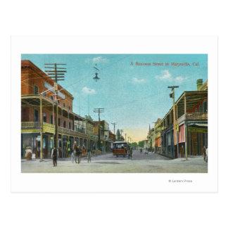 Carte Postale Vue des affaires StreetMarysville, CA