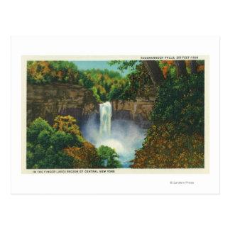 Carte Postale Vue des automnes de Taughannock, 215 pieds de haut
