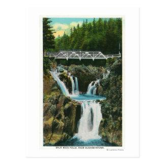 Carte Postale Vue des automnes et du pont de roche de fente