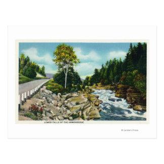 Carte Postale Vue des automnes inférieurs de la rivière