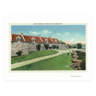 Carte Postale Vue des casernes de sud du drapeau