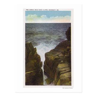 Carte Postale Vue des falaises de tête chauve, la gorge