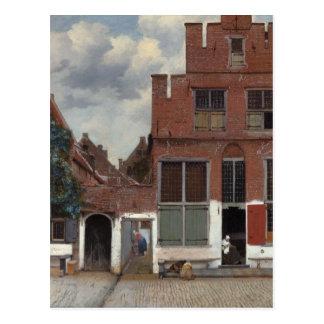 Carte Postale Vue des maisons à Delft la petite rue
