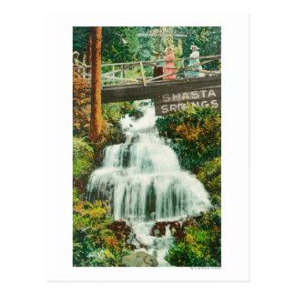 Carte Postale Vue des ressorts inférieurs de FallsShasta, CA