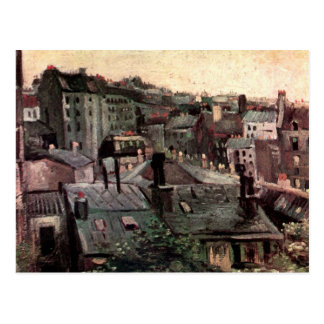 Carte Postale Vue des toits et des dos des Chambres par Van Gogh