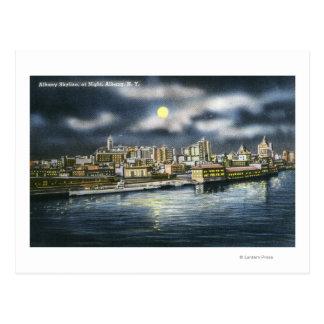 Carte Postale Vue d'horizon d'Albany la nuit