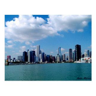Carte Postale Vue d'horizon de Chicago de pilier de marine