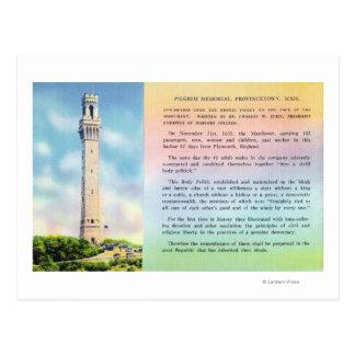 Carte Postale Vue d'information commémorative et brève de