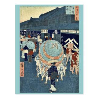 Carte Postale Vue d'itchome de tores de Nihonbashi par Ando,