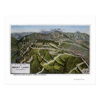 Carte Postale Vue d'oeil d'oiseau de montagne