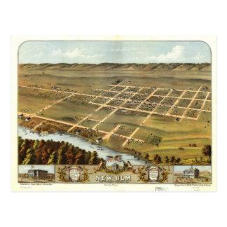 Carte Postale Vue d'oeil d'oiseau de nouvel Ulm, Minnesota
