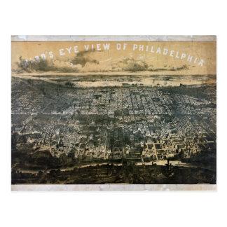 Carte Postale Vue d'oeil d'oiseau de Philadelphie Pennsylvanie