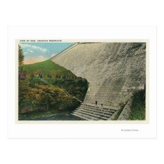 Carte Postale Vue du barrage de réservoir d'Ashokan