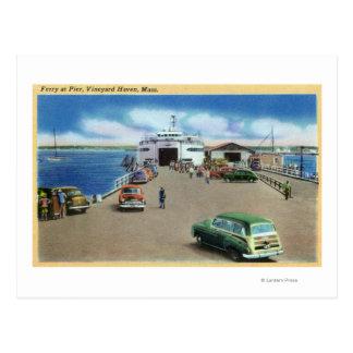 Carte Postale Vue du ferry au pilier