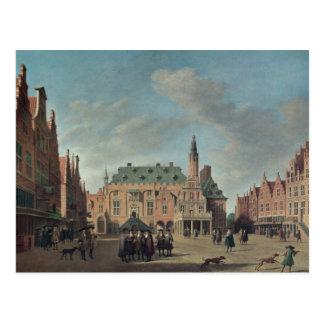 Carte Postale Vue du Grote Markt à Haarlem