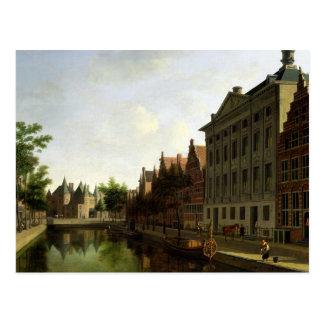 Carte Postale Vue du Kloveniersburgwal à Amsterdam