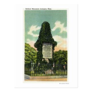 Carte Postale Vue du monument des soldats